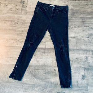 Junior's Mudd Black Ripped Skinny Jeans, Sz 7